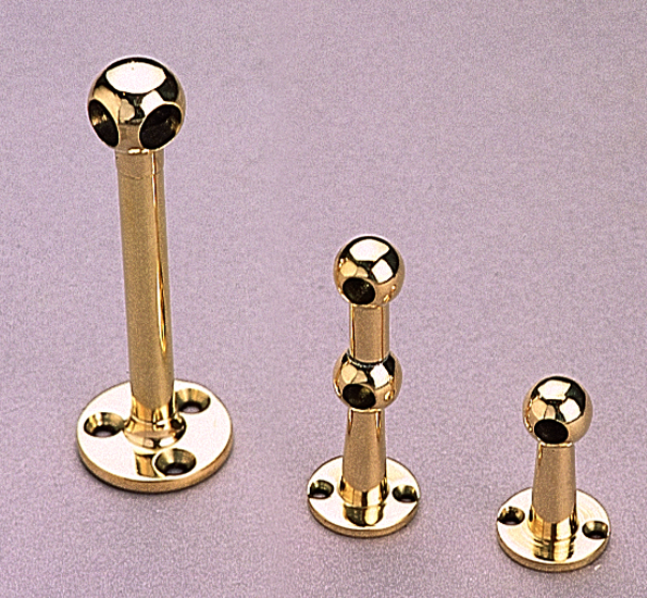 Polished Brass Fiddle Rail Brackets