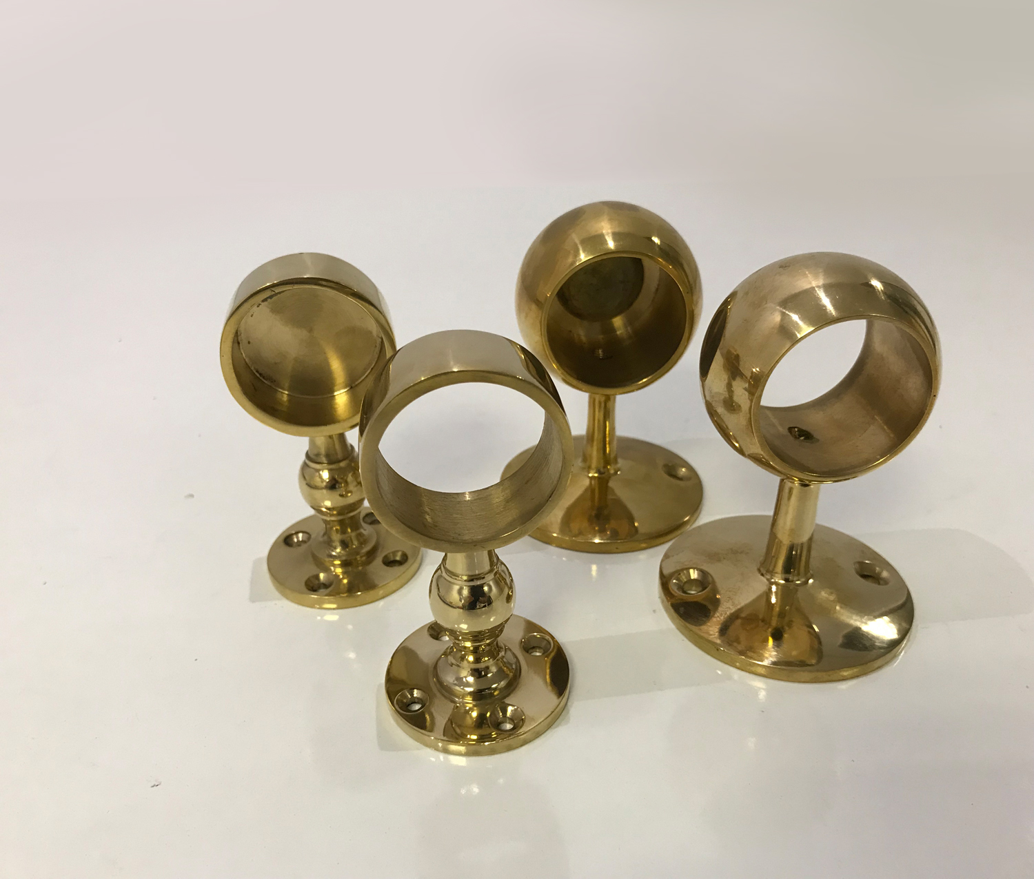 Polished Brass Gallery Brackets