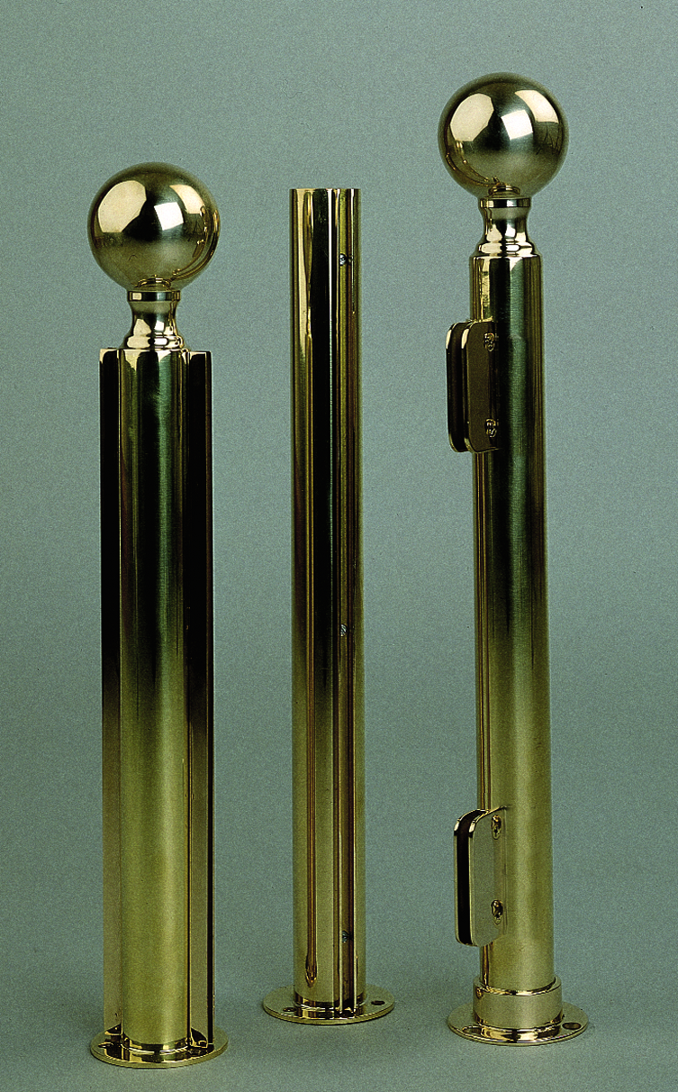 Polished Brass Screen Posts