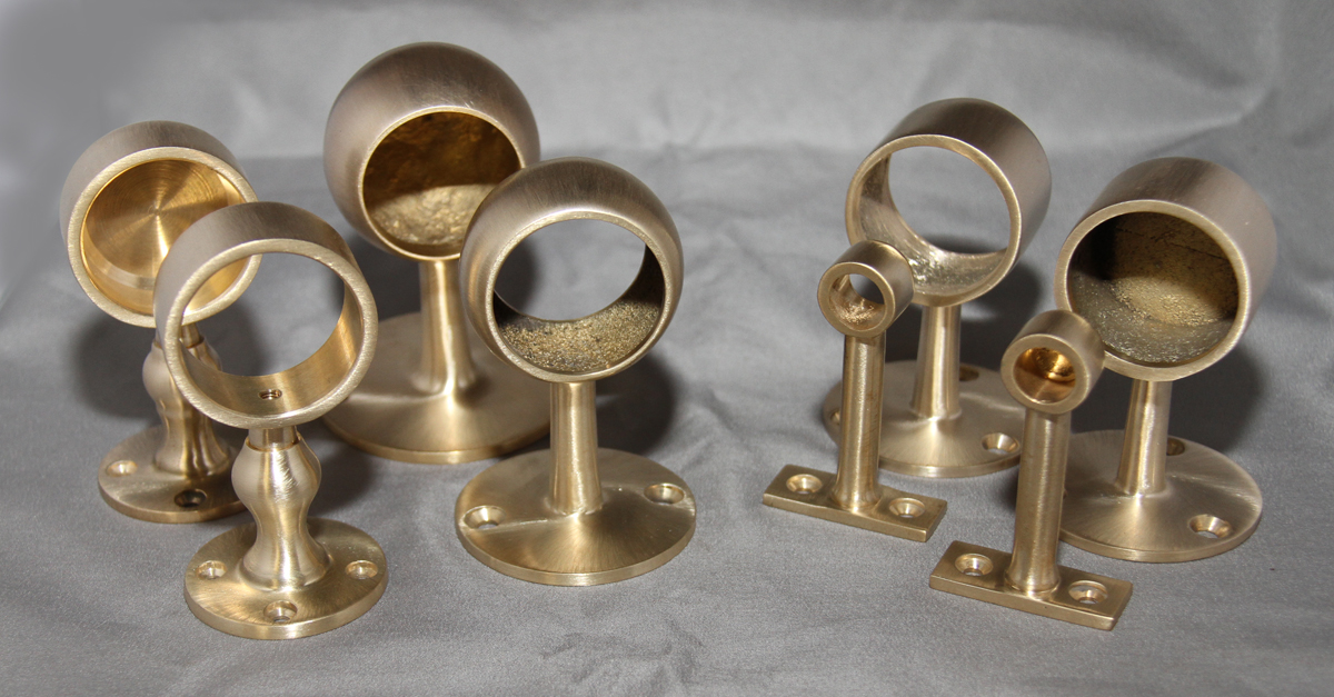 Satin Brass Gallery Brackets