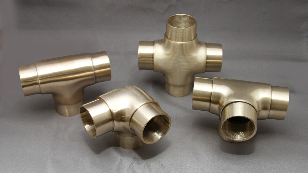 Satin Brass Flush Joints