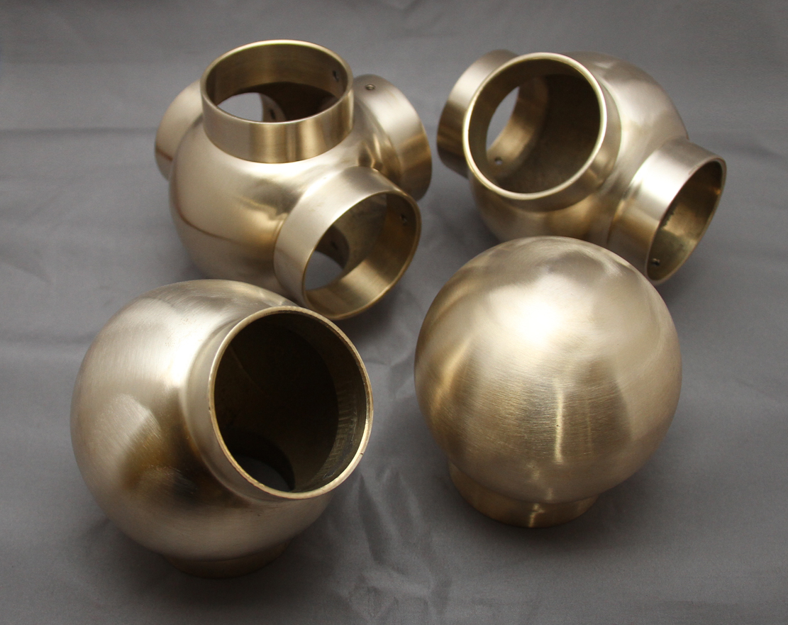 Satin Brass Ball Joints