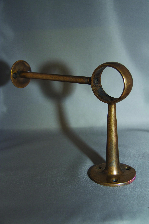 Antique Brass Footrail Brackets