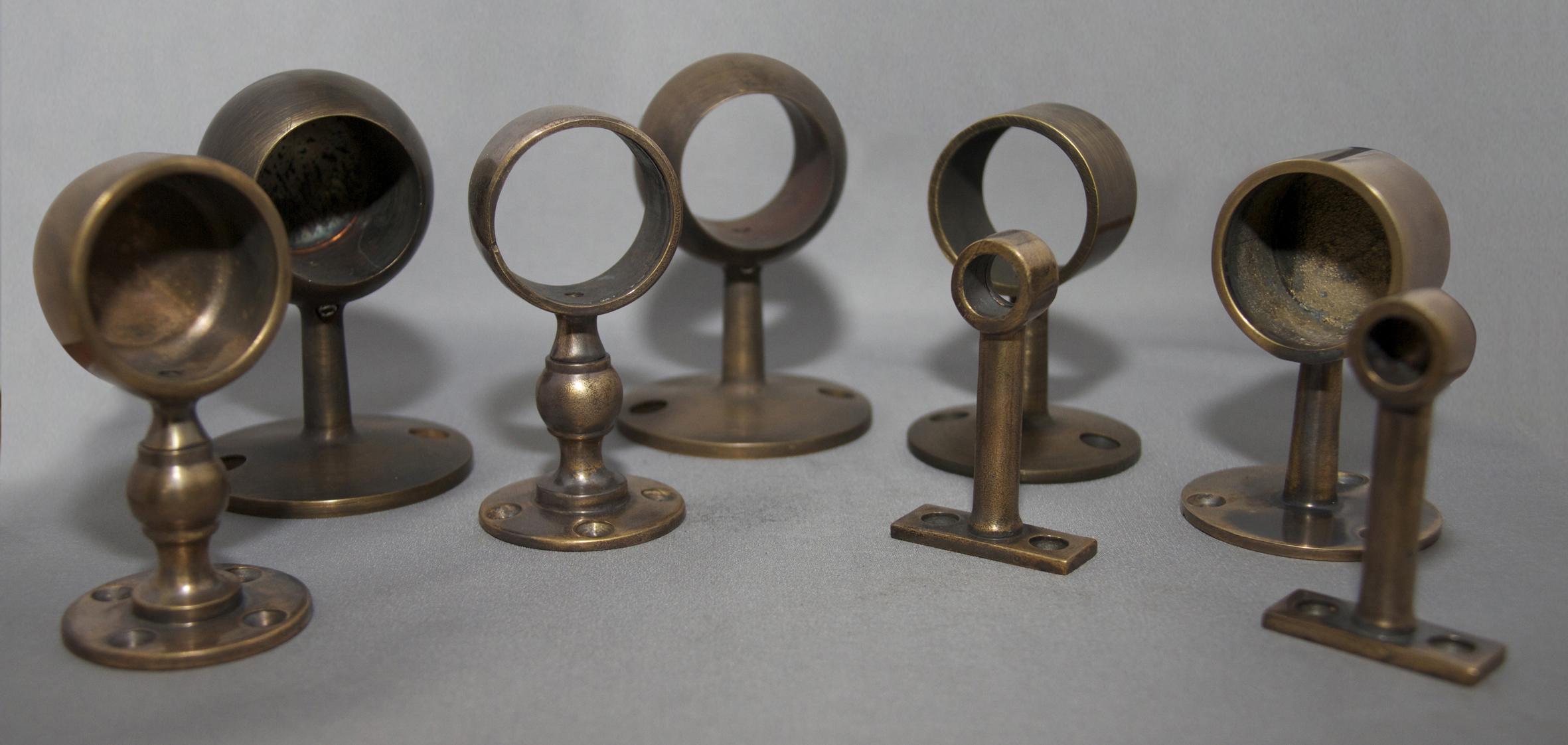 Antique Brass Gallery Brackets