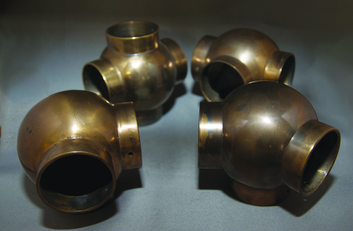 Antique Brass Ball Joints