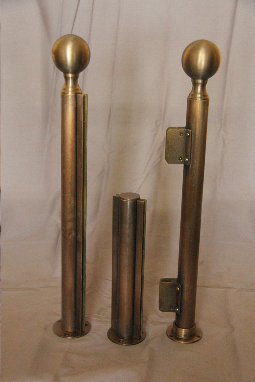 Antique Brass Screen Posts