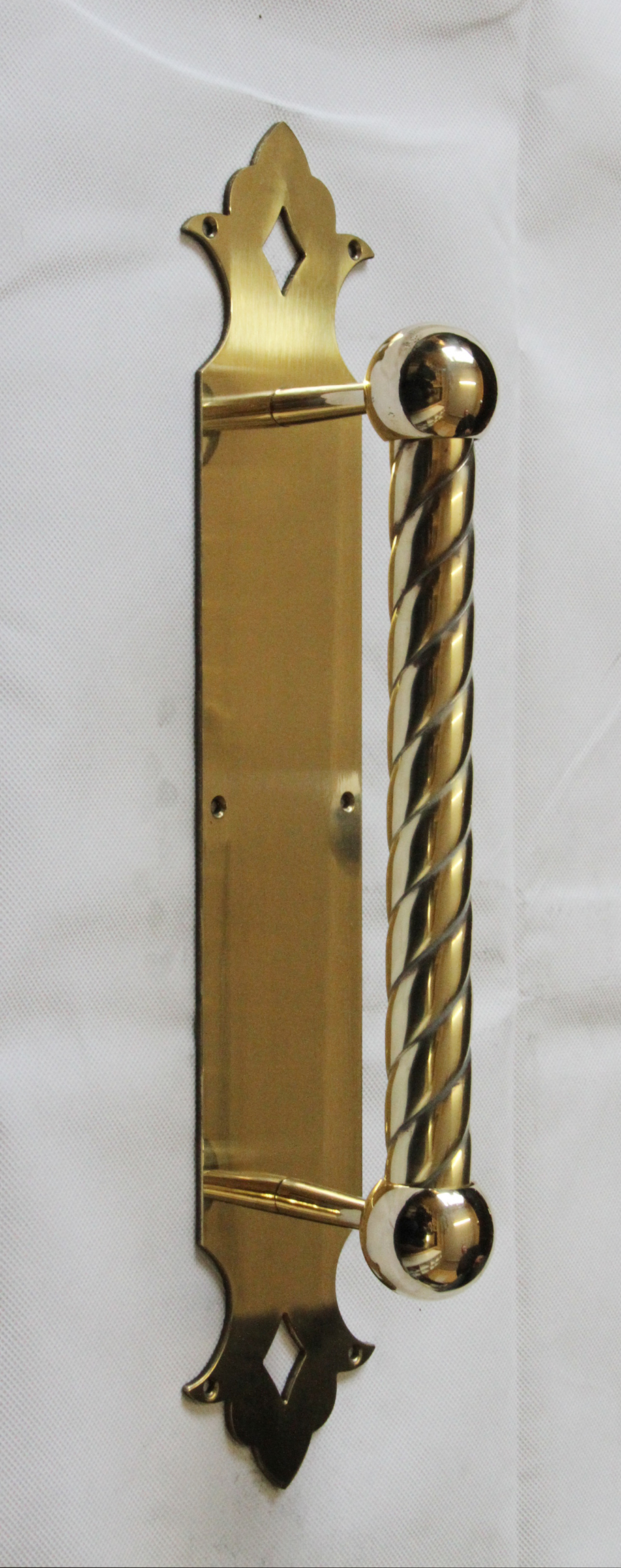 Brass Handle on Back Plate