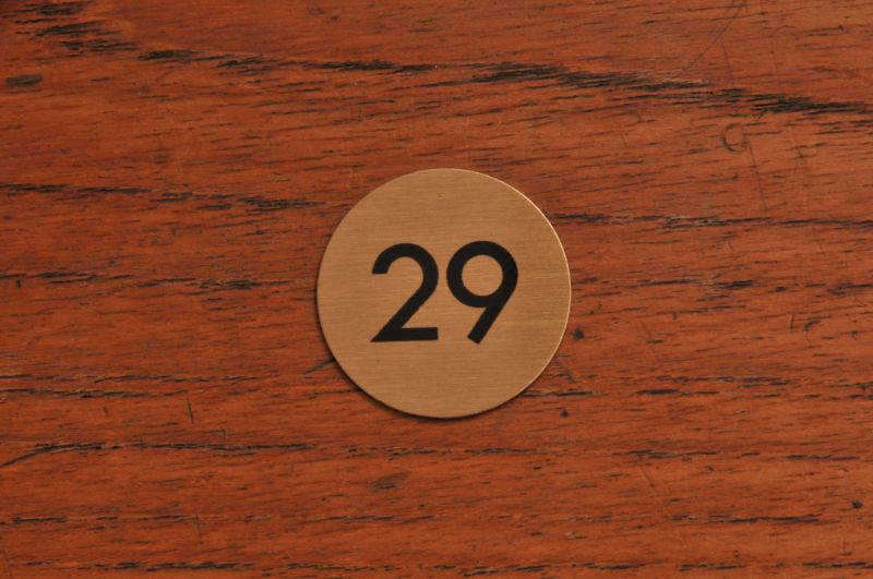 Brass Table Numbers