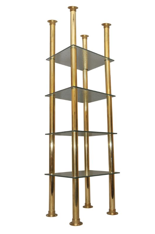 Brass & Glass Shelving Racks