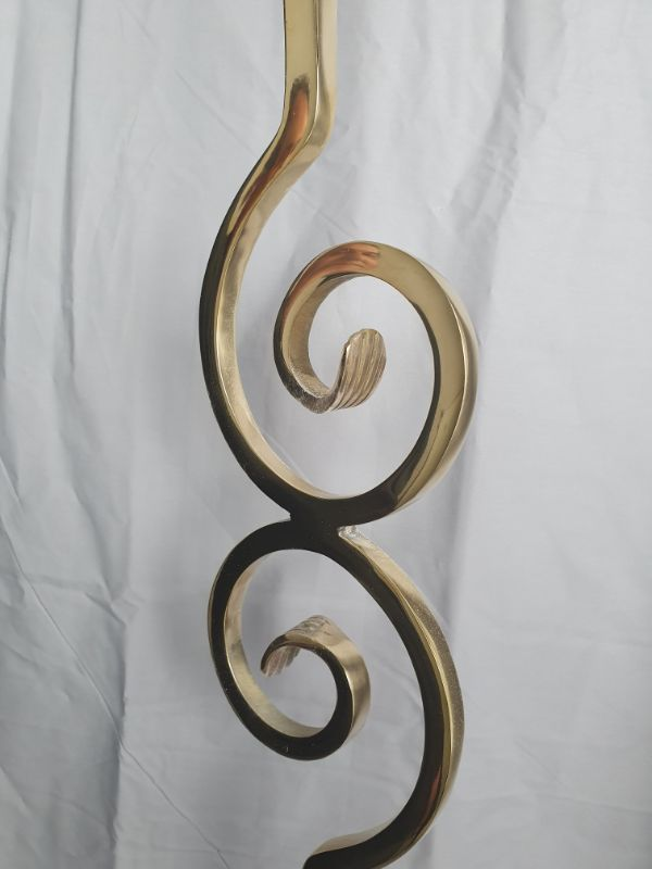 Brass Scroll Staircase Spindle