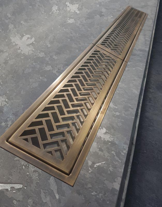 Antique Brass Bar Top Drip Tray