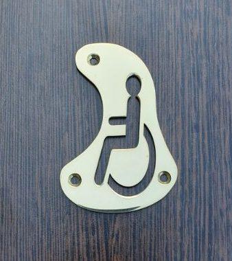 Brass Toilet Sign