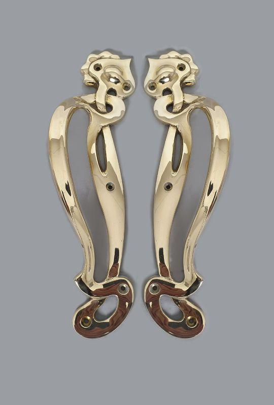 Brass Art Nouveau Pull Handles
