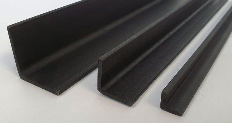 Natural Finish Blackened Mild Steel Angle