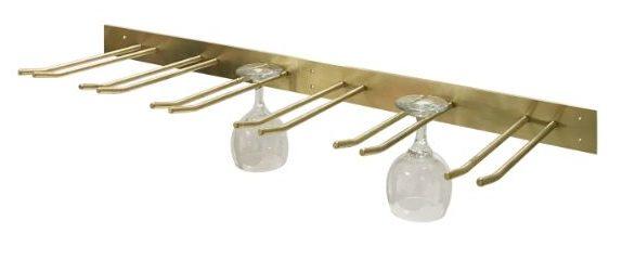 Brass Wall Mounted Wine Glass Racks