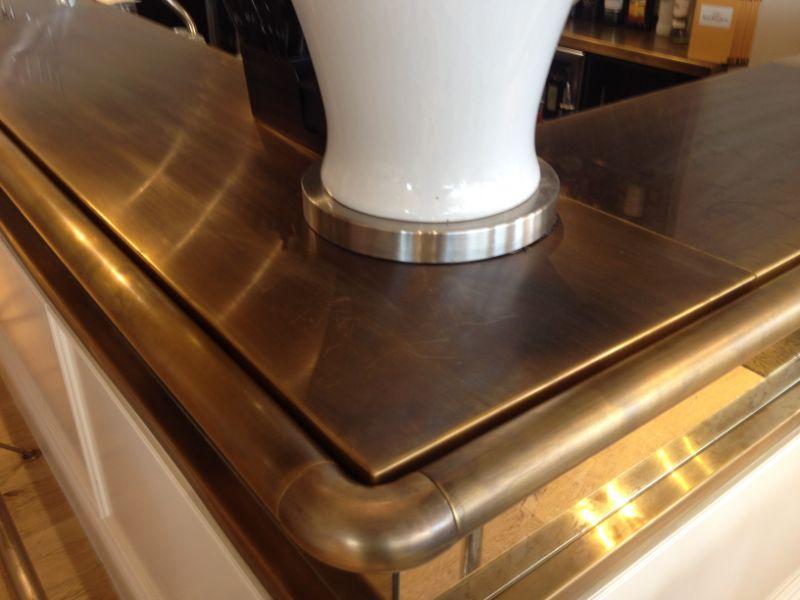 Antique Brass Bar Top